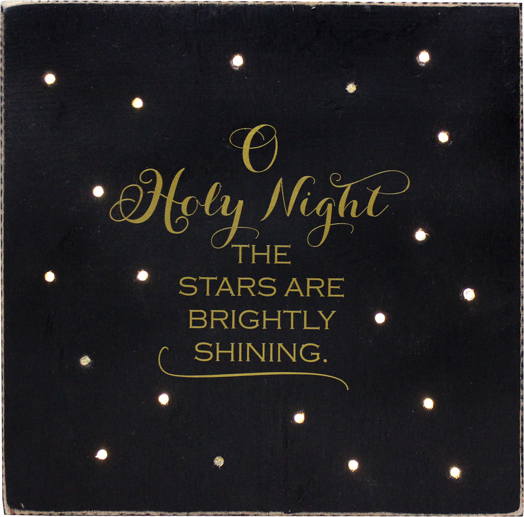 O 39 holy night lighted plaque crafts direct for O holy night decorations