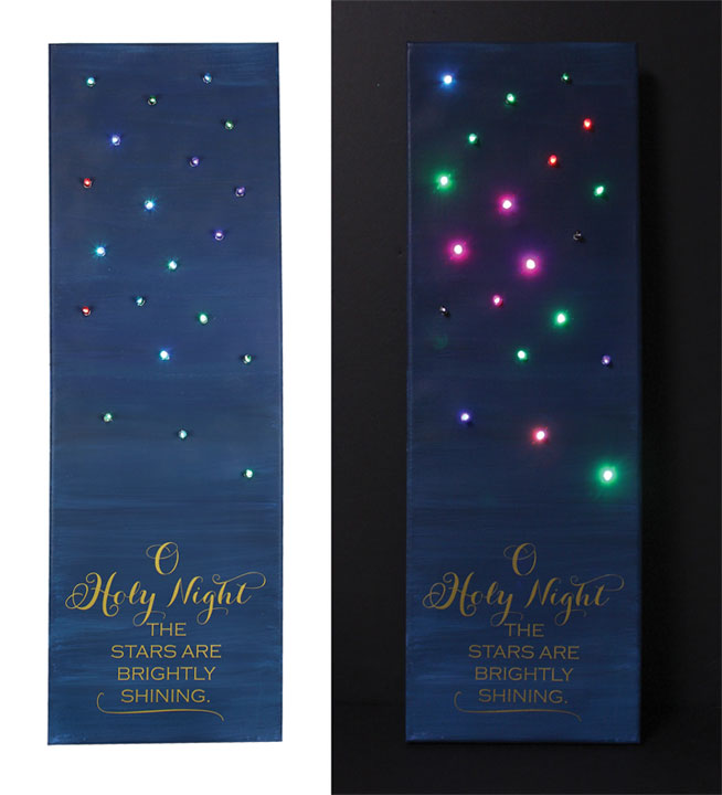 Oh Holy Night Lighted Canvas Crafts Direct