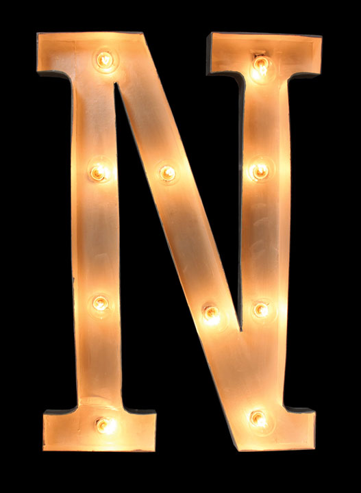 paper mache letter with globe lights crafts direct With paper mache letter lights
