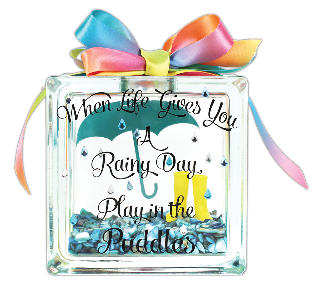 Puddle glass block crafts direct for Glass block for crafts