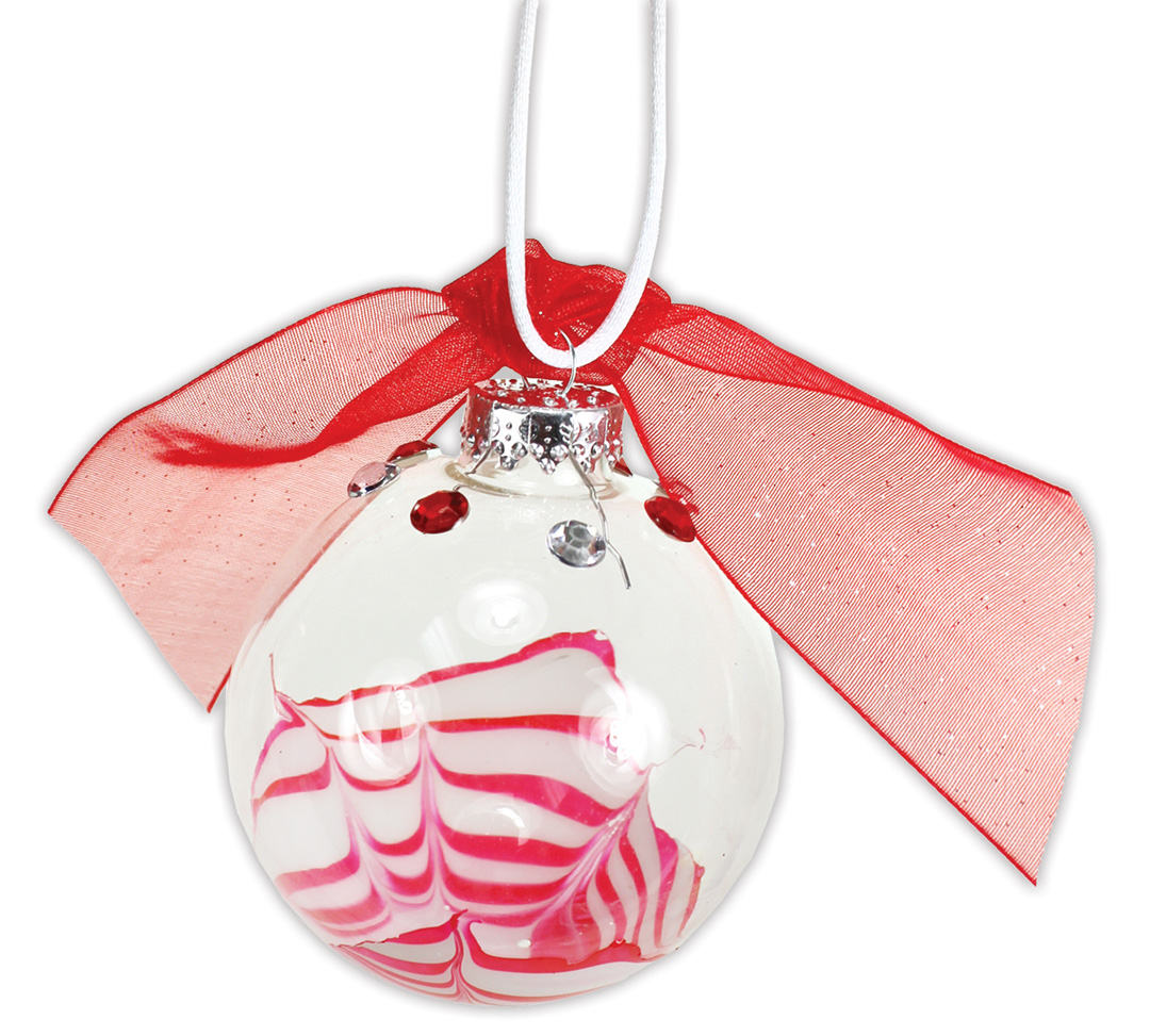 Christmas Ornaments Nail Polish : Swirled nail polish ornament crafts direct