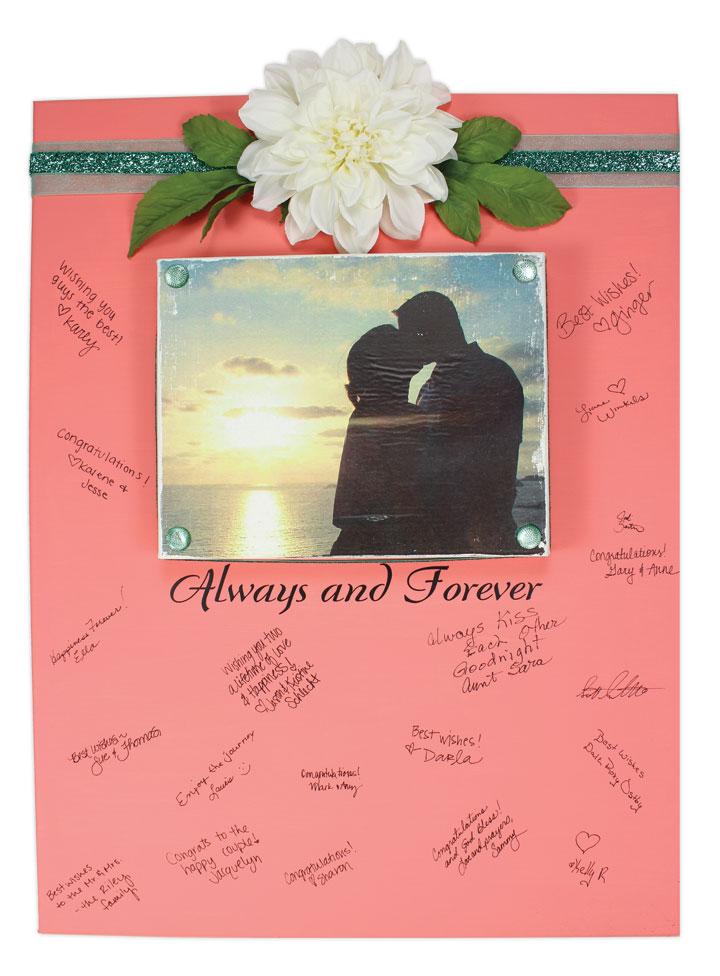 Wedding Guest Book Canvas | Crafts Direct