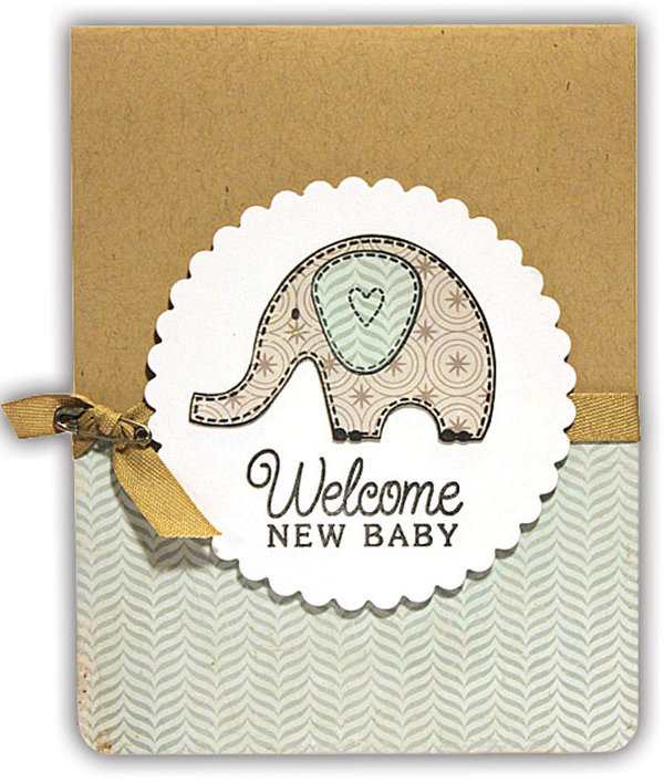 Welcome Baby Elephant Card | Crafts Direct