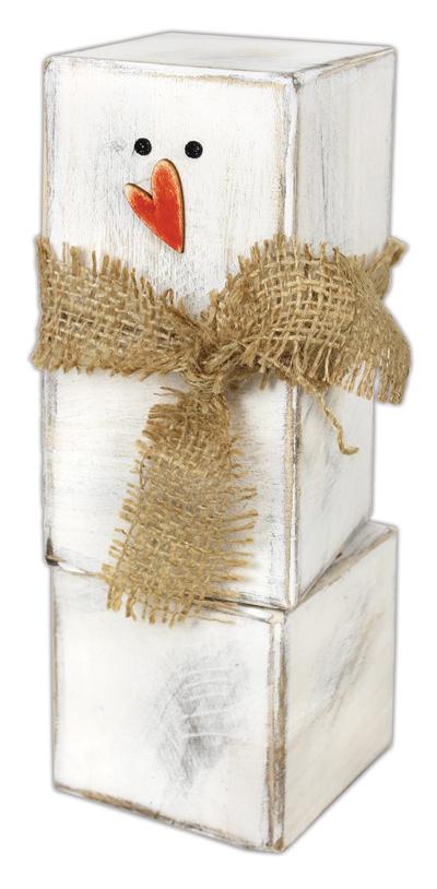Wood Block Rustic Snowman Crafts Direct