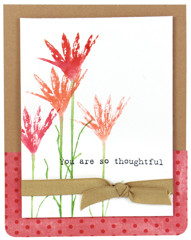 Whisper Print Flower Card Crafts Direct